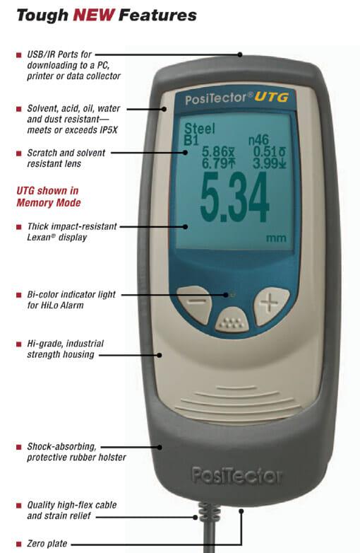 Positector Utg Features Ultrasonic Thickness Gauge Dft