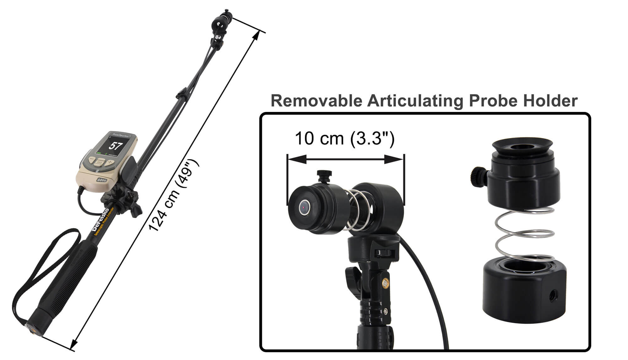 PosiTector 6000 Telescopic Probe Extender holder