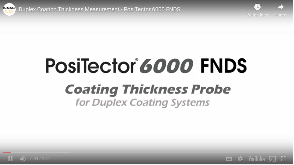 PosiTector 6000 VIDEO - Duplex Coating Thickness Measurement