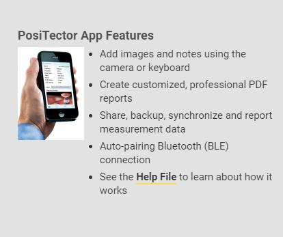 PosiTector APP Features