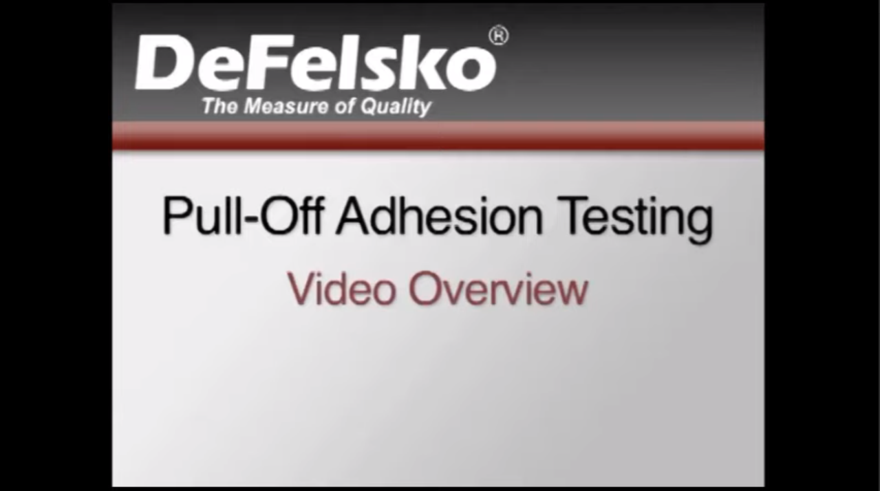 Pull Off Adhesion Testing Video
